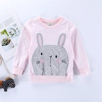 Super Lovely Rabbit Applique Long-sleeve Top for Baby and Kid