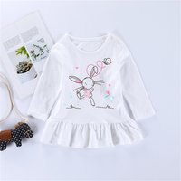 Super Casual Rabbit Print Long-sleeve Top for Baby and Kid