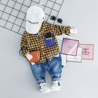 Checkered Shirt and Jeans Set