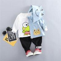 Baby / Toddler 3-piece Frog Design HoodedJacket, Tee and Pants