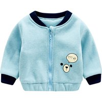 Cute Bear Print Sporty Coat for Baby and Toddler