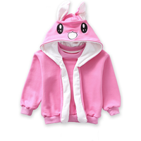 Stylish Rabbit Design Long-sleeve Pullover with Long Movable Ears for Toddler Girl