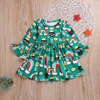 Baby/ Toddler Girl's Rainbow Pattern Dress