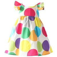 Colorful Dotted Backless Dress for Baby and Toddler Girl