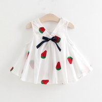 Pretty Embroidered Detail V Neck Dress for Baby Girl