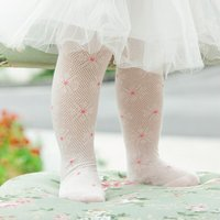 Sunflower Eyelet Footed Leggings for Baby and Toddler Girl