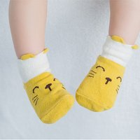 Adorable Color-blocking Animal Graphic Socks for Baby and Toddler Girl