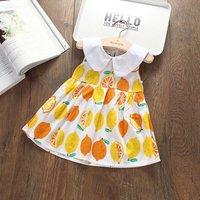 Fresh Lemon Allover Sleeveless Dress for Baby and Toddler Girl