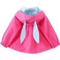 Sweet 3D Flower Rabbit Ear Hooded Jacket for Baby and Toddler Girl