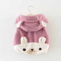 Adorable Bear Design Hooded Vest for Baby Girl