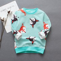 Super Cute Fox Patterned Long-sleeve Pullover for Baby and Kid