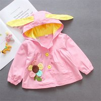 Baby/ Toddler Girl's 3D Rabbit Ear Hooded Trench
