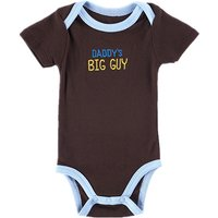 Adorable Brown with Letter Short-sleeve Bodysuit for Baby