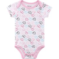 Baby's Lovely Heart-shape Short-Sleeve Cotton Bodysuit
