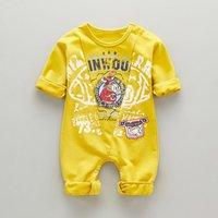Cute Calf Print Long-sleeve Jumpsuit for Baby Boy