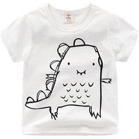 Cute Dinosaur White Tee for Babies and Toddlers