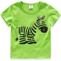 Naughty Zebra Cotton Short Sleeve for Toddler Girls and Girls
