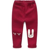 Adorable Rabbit Plush Lined Leggings for Baby Girl/Girl