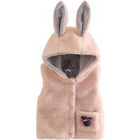 Lovely Hooded Rabbit Ear Fleece Vest for Girl