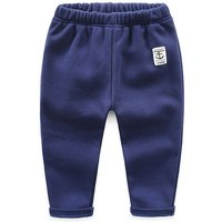 Comfy Solid Appliqued Pants for Boy