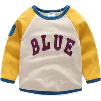 Appliqued Letter Fleece Lined Sporty Pullover for Toddler/Kid