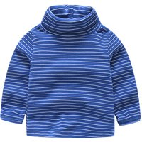 Solid Stripes Turtleneck Top for Toddler/Baby
