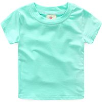 Casual Solid Pastel Cotton T-shirt for Toddler Girl/Girl