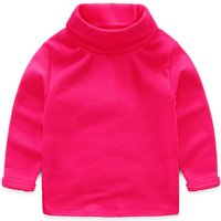 Bright Solid Turtleneck Long-sleeve T-shirt for Girl