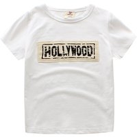 Casual Letter Print T-shirt for Baby Boy and Boy