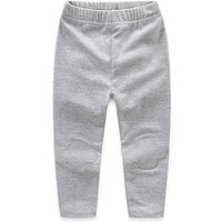 Cool and Comfy Elastic Waist Solid Pants for Baby and Toddler