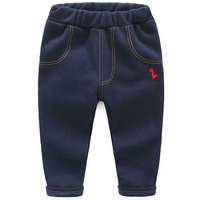 Comfy Solid Plush Lined Pants for Baby Boy and Boy