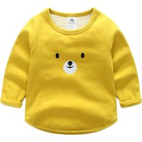Super Cute Bear Print Long Sleeves Top for Babies and Toddlers