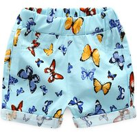 Unique Graphic Pattern Elastic Waist Shorts for Baby and Toddlers