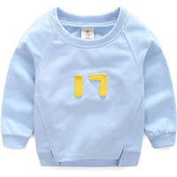 Cool Letter Appliqued Long-sleeve Top for Baby and Toddlers