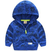 Sporty Zip-up Pocket Hoodie for Boy