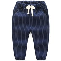 Cool Striped Elastic Waist Casual Pants for Baby and Toddlers