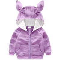 Adorable Solid Rabbit Ear Hoodie for Toddler Girl and Girl