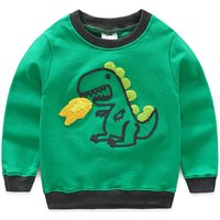 Cool Embroidered Dinosaur Top for Boy