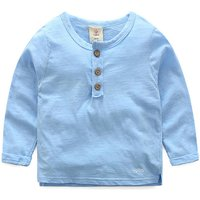 Casual Button Long-sleeve T-shirt for Boy