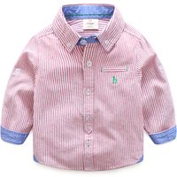 Casual Striped Front Button T-shirt for Boy
