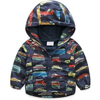 Awesome Car Pattern Hooded Jacket for Boy