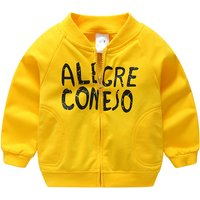 Sporty Letter Print Zip-up Jacket for Baby and Toddler Boy