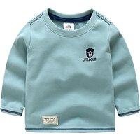 Comfy Bear Embroidery Long-sleeve Tee for Boys
