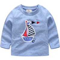 Comfy Sailboat Print Long-sleeve Top for Toddler Boy and Boy
