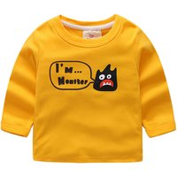 Cute Cartoon Print Long-sleeve T-shirt for Boy
