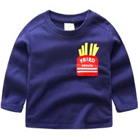 Comfy French Fries Print Long-sleeve Top for Toddler Boy and Boy
