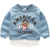 Trendy Faux-two Tiger Print Pullover for Toddler Boy and Boy