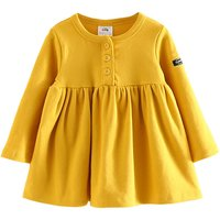 Beautiful Solid Long-sleeve Pleated Top for Toddler Girl and Girl