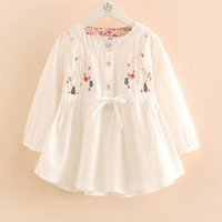 Cute Star Embroidered Long-sleeve Dress for Baby Girl and Girl