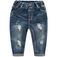 Stylish Frayed High-waist Jeans for Toddler Boy and Boy